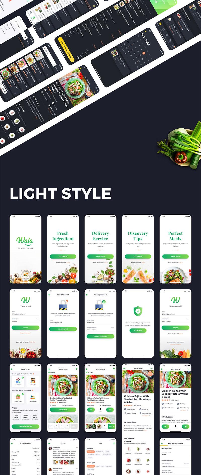 Wala - Premium Food UI kit for XD