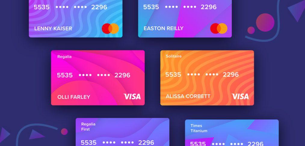 Credit / Debit card XD templates