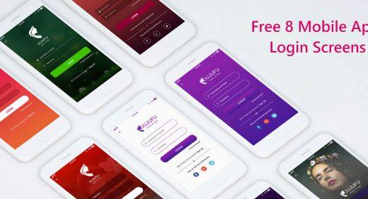 8 Mobile XD Login Screens