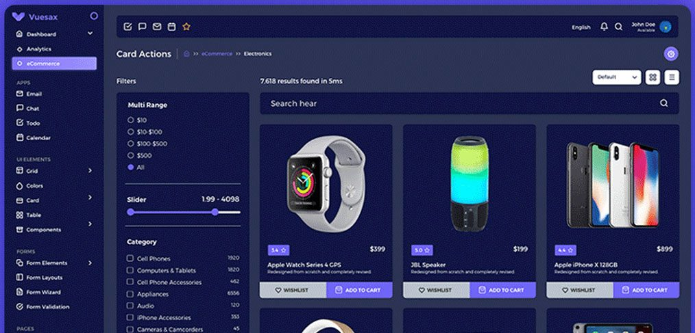 Admin Ecommerce XD Template