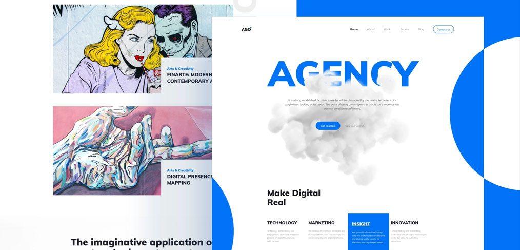 Agency homepage template