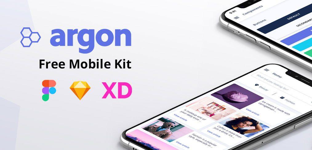 Argon - Free XD mobile UI kit
