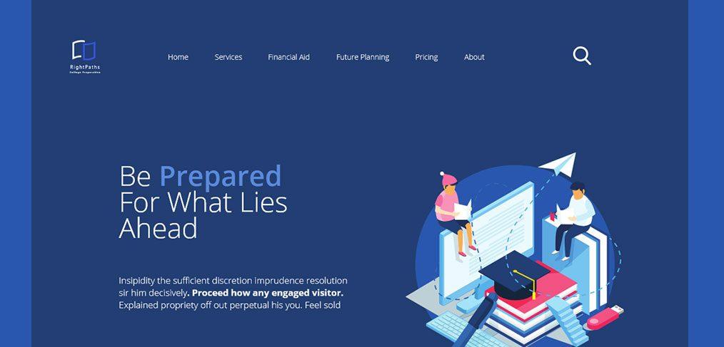 College prep XD website template