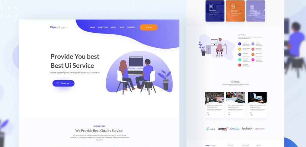 Design acency website XD template