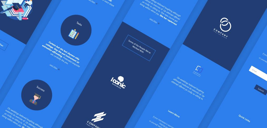 Education XD website template free