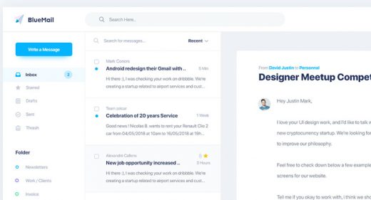 Bluemail XD email template
