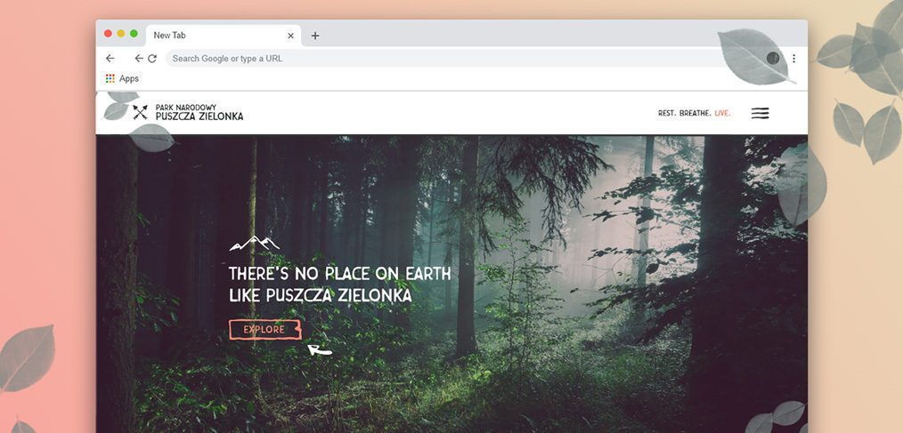 National park XD website template