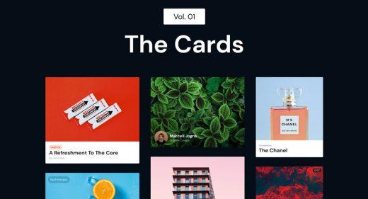 The Cards - Adobe XD freebie