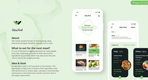 WiseFood free UI kit for XD