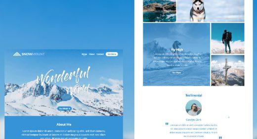 Free XD travel landing page