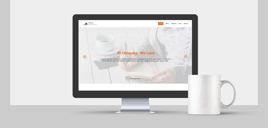 Free agency website XD template