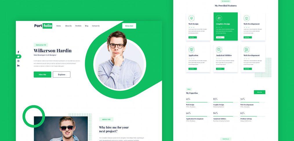 Green XD portfolio template