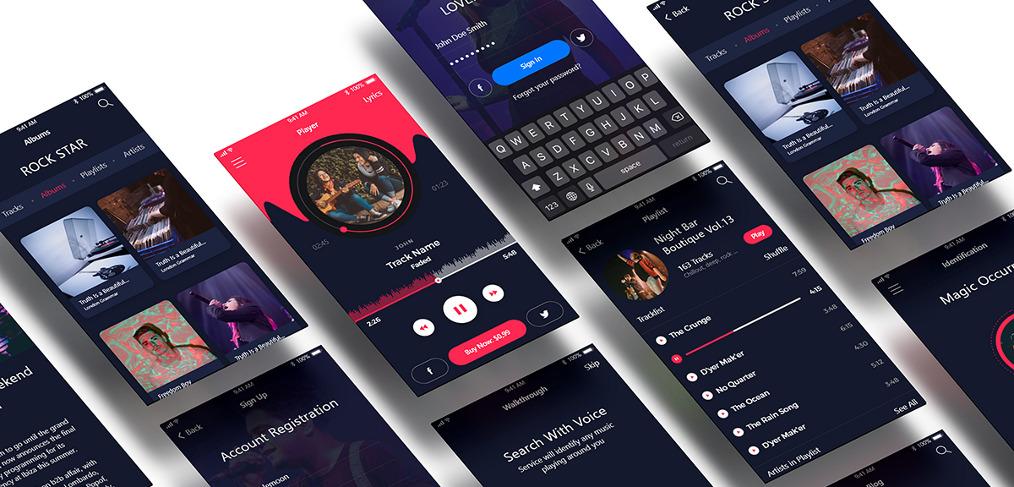 music-app-free-xd-ui-kit