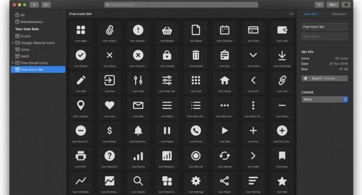 64 Free essential icons for XD