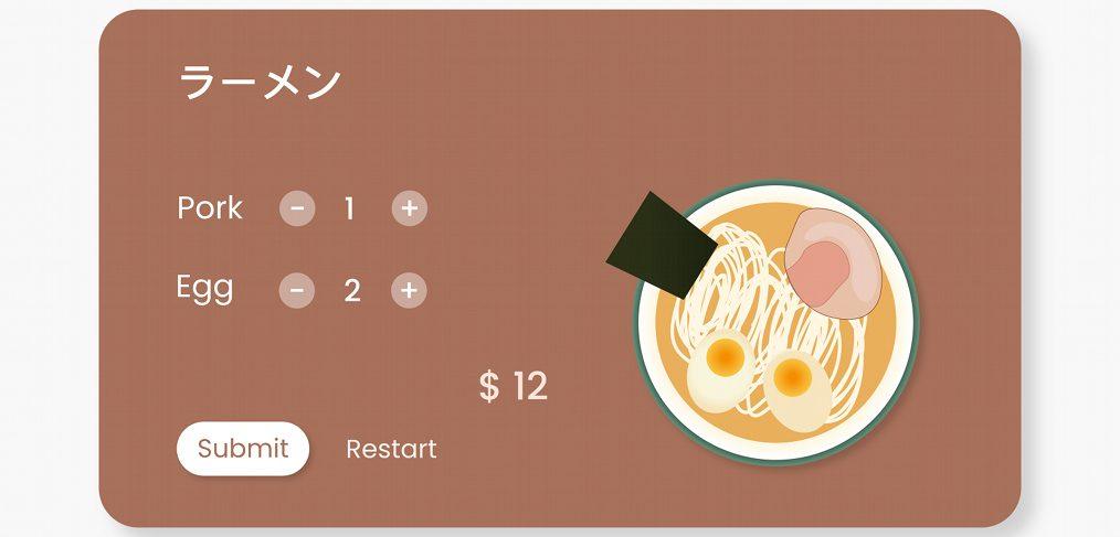 Customize your ramen animation