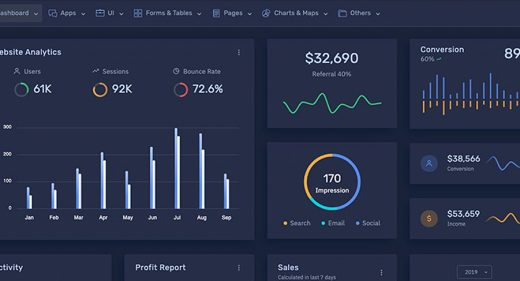 Frest - Bootstrap XD admin template