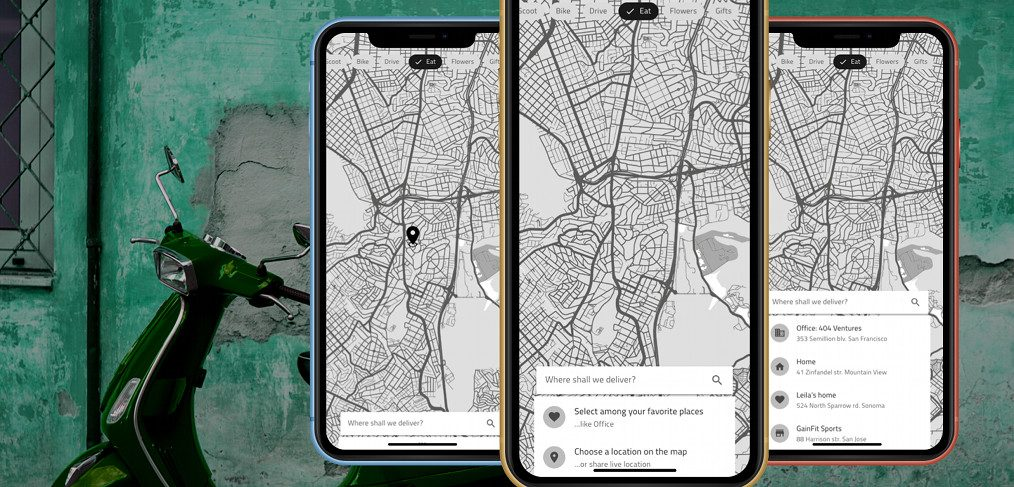 Transport service XD app concept
