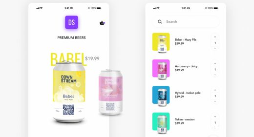 Beer app XD animated concept