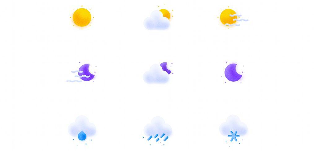 Free Adobe XD weather icons