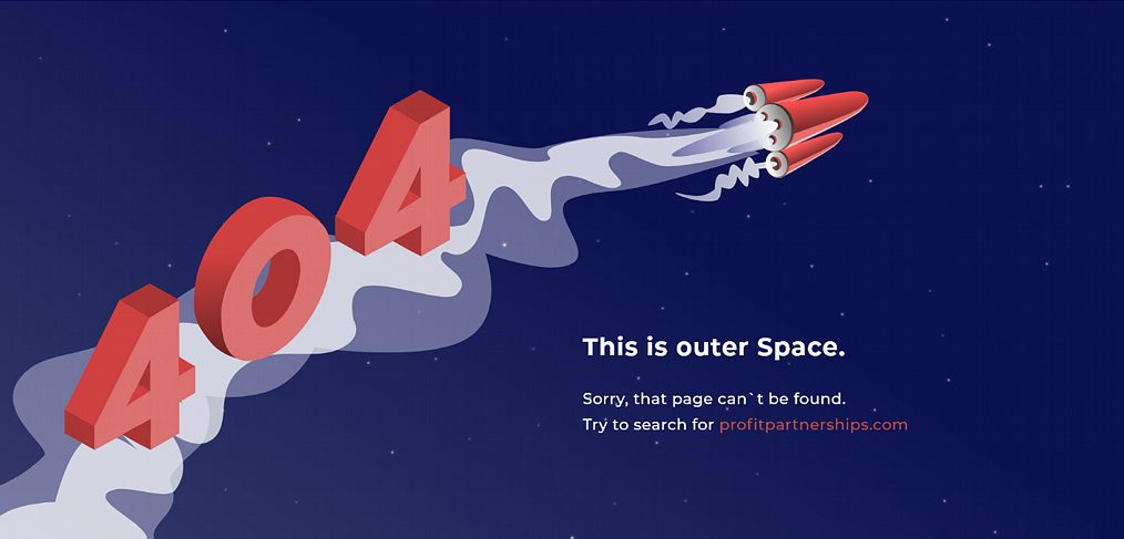Outer space 404 page for XD