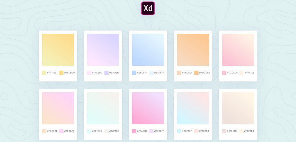 XD gradients palette