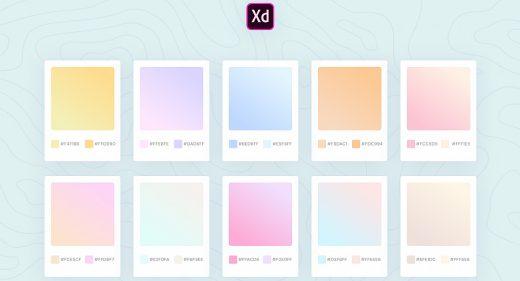 XD gradients palette