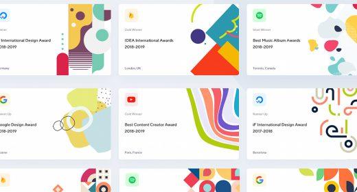 XD UI card for awards