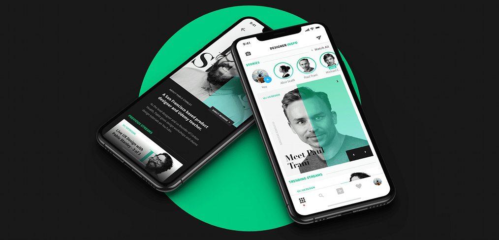 DesignerInspo - XD Social Media App