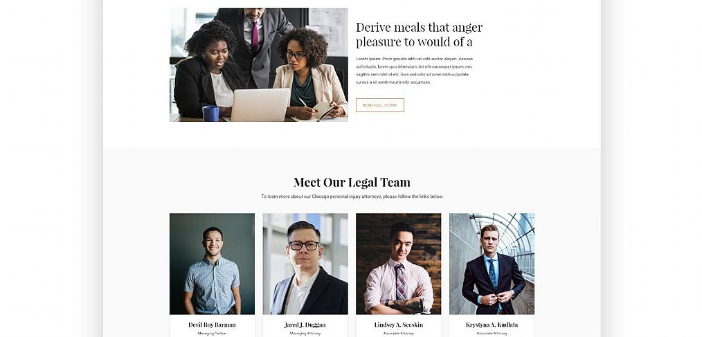 Law firm XD website template