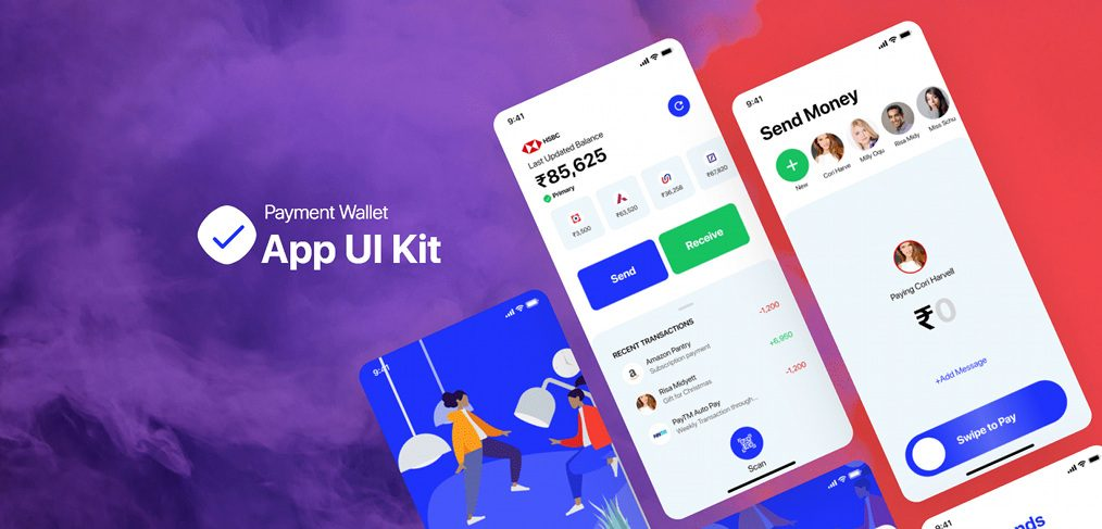 Payment wallet UI kit free sample