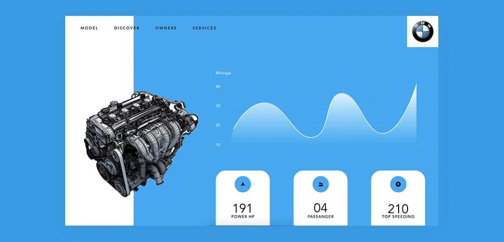BMW engine XD animation