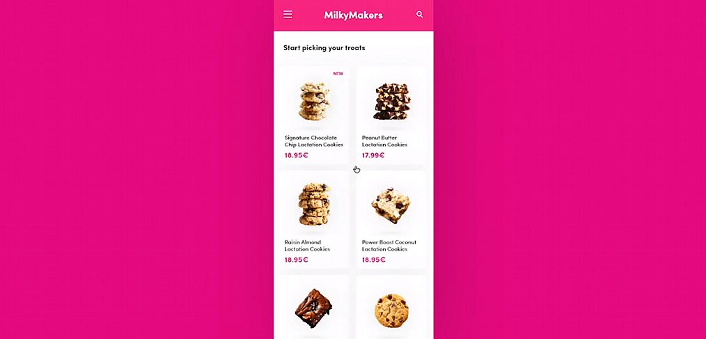 Cookies mobile store concept