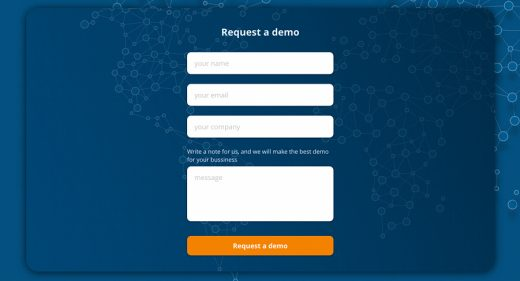 Free contact form made in XD