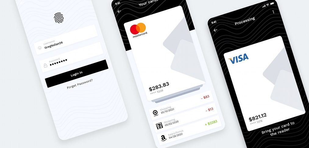 Mobile wallet XD concept