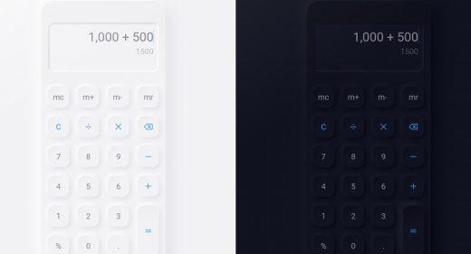 Neumorphic free XD Calculator