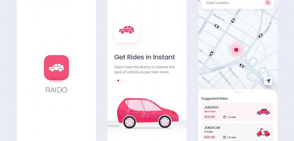 Raido - Ride sharing XD app