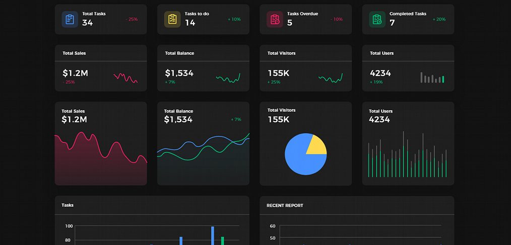 Dark & light free XD dashboard UI kit