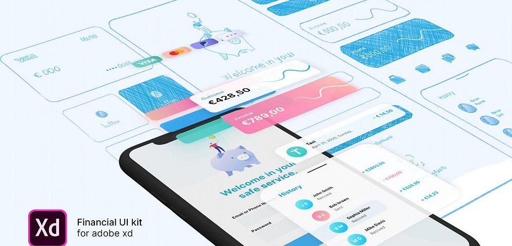 Free XD finance UI kit