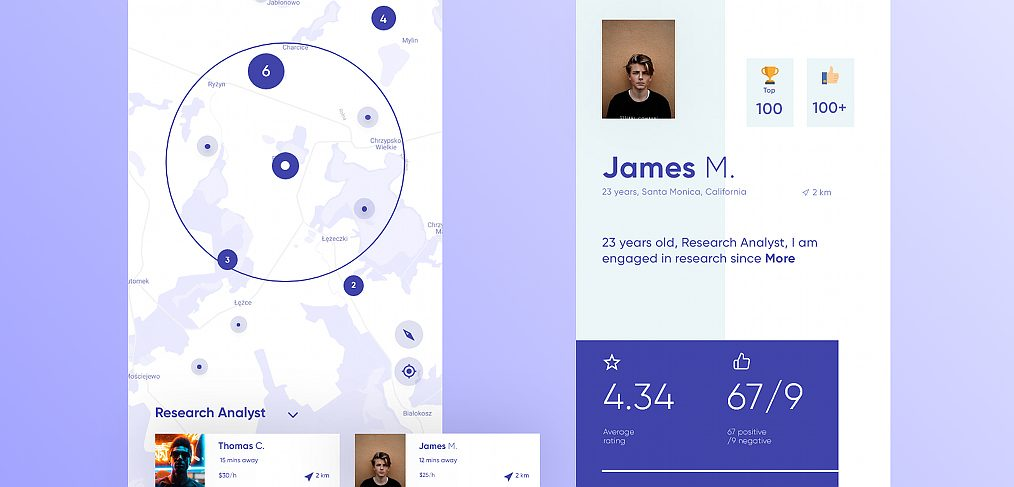 Professionals finder app concept