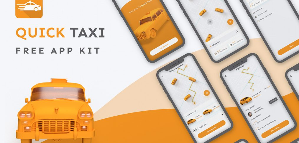 Taxi app freebie for XD