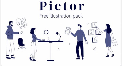 Pictor - Free XD illustration pack