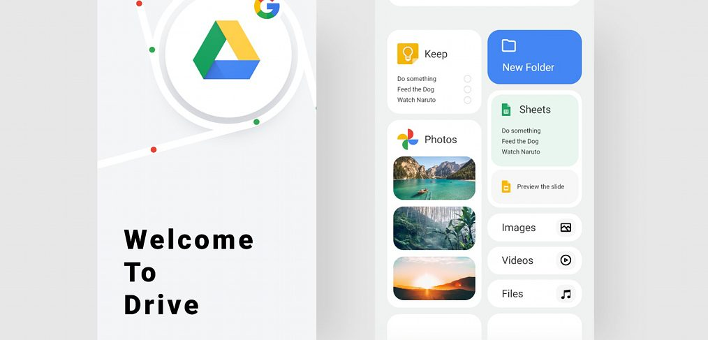 Google Drive XD redesign concept