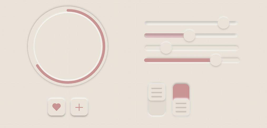 Neumorphic UI elements for XD