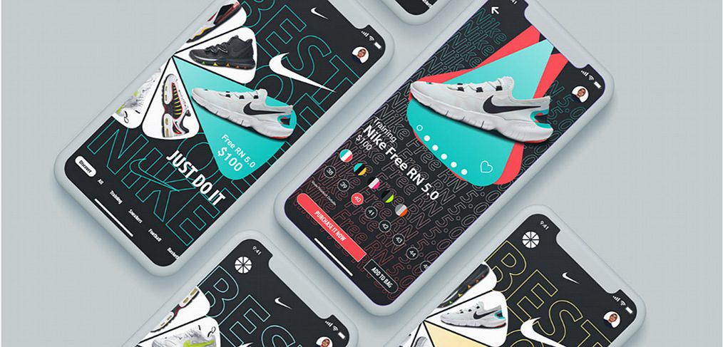 Nike mobile app concept for XD