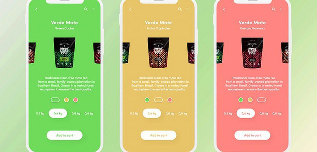 Ecommerce Mobile app XD interaction