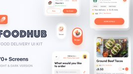 Food hub - Premium XD UI Kit