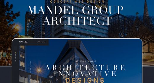 Free XD architecture website template