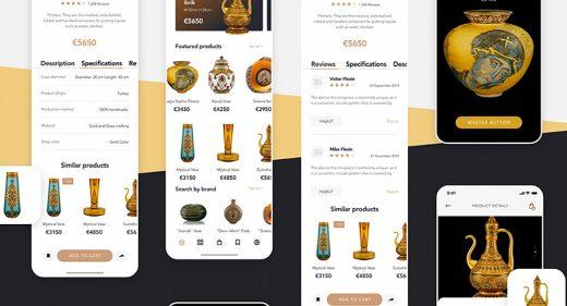 Free XD mobile ecommerce UI kit