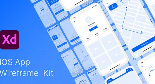 Free XD Wireframe Kit for iOS