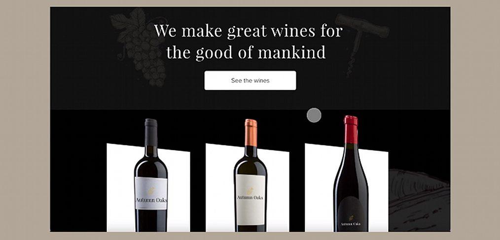 Wine website animation in XD